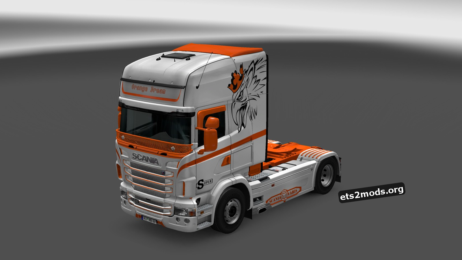 Orange Dream Skin for Scania RJL