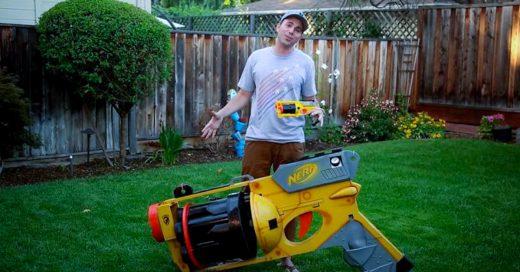 Esta es la pistola Nerf Gigante del mundo; te sorprenderá