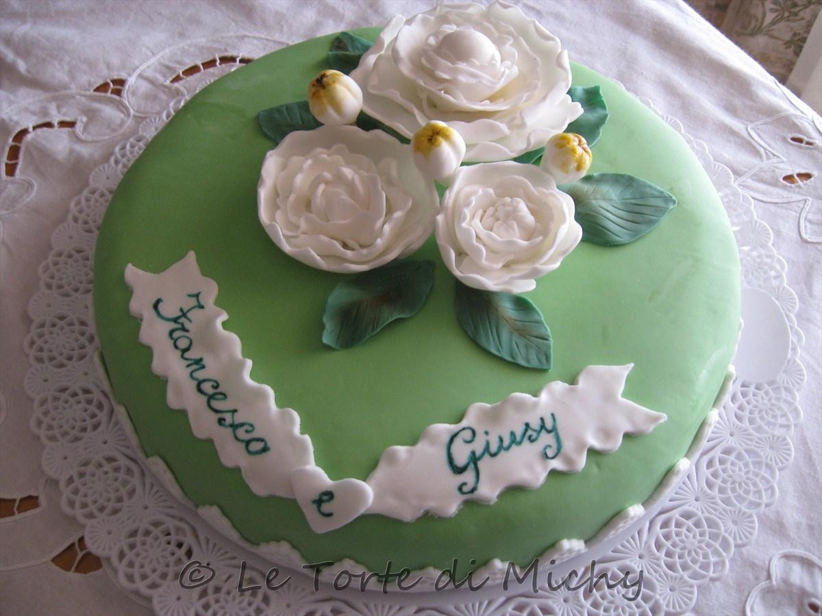 Eccezionale Torta Promessa Matrimonio Peonie – Le Torte di Michy FB39