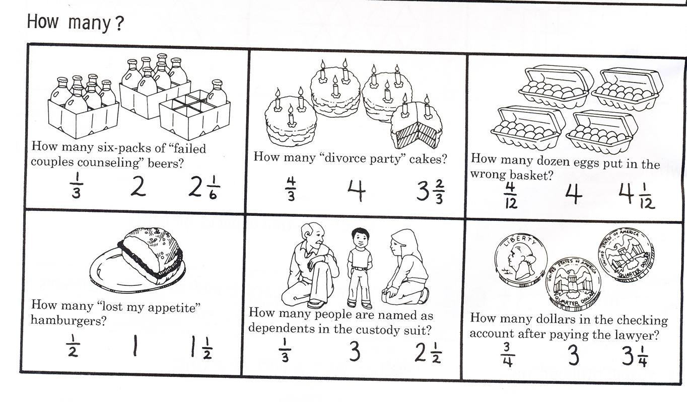 I Made You Some Divorce Fraction Worksheets Popthomology