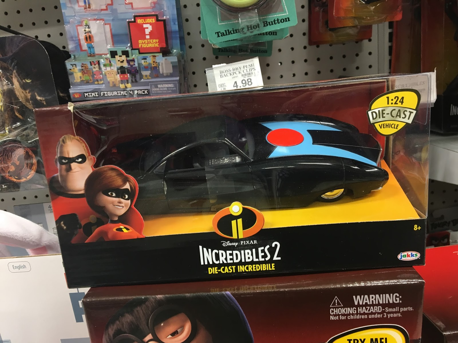 incredibles 2 1:24 scale diecast