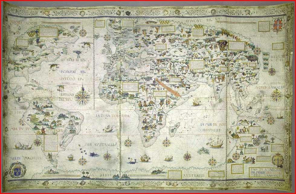 Gambar Peta Dunia Tahun 1550