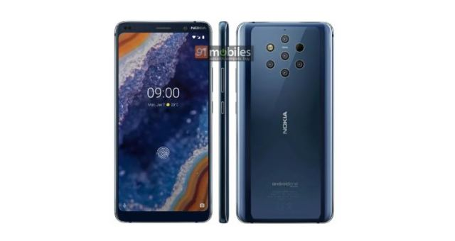 Nokia 9 PureView Press Renders Shows 5 Cameras, In-Display Fingerprint Sensor