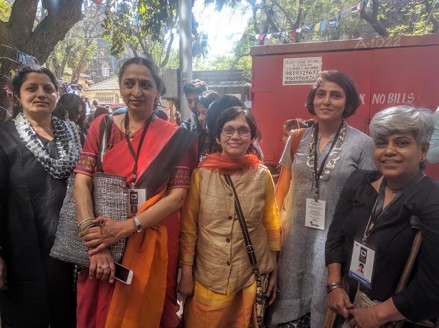 (L to R) Chitra Vaidya, Tripti Ayyar, Gauri Ketkar, Ami Patel, Geeta Castelino  at Kala Ghoda Arts Festival, Mumbai