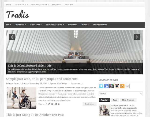 Tradis Blogger Template