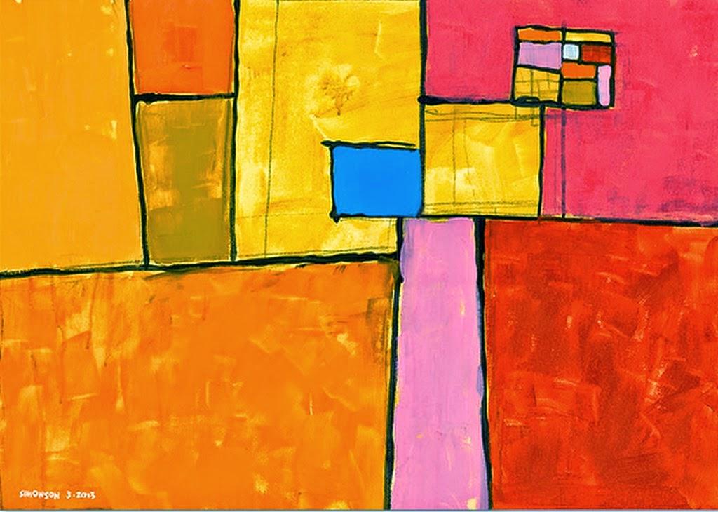 Pintar cuadros modernos salon free pintado a mano resumen - Pintar un cuadro moderno ...