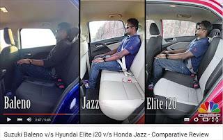 スズキ バレーノとホンダ フィットの後席スペースを比較してみた動画