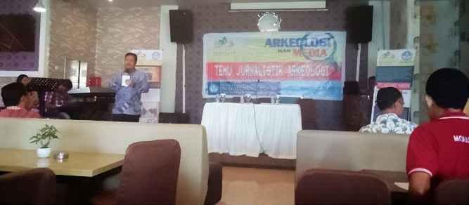 Guna membahas isu perkembangan peradaban sosial dan pembangunan yang berkelanjutan , Balai Arkeologi Maluku dan Maluku Utara gelar temu Jurnalistik Arkeologi di Hotel Ocean Ambon, Jumat (17/2).