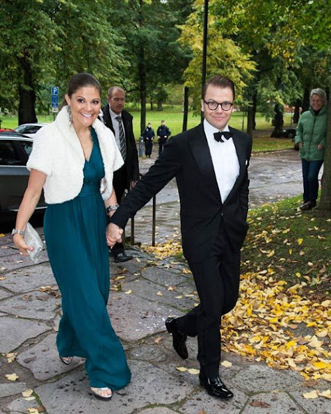 Crown Princess Couple attend the wedding of Prince Daniel's cousin at the Heliga Trefaldighets church