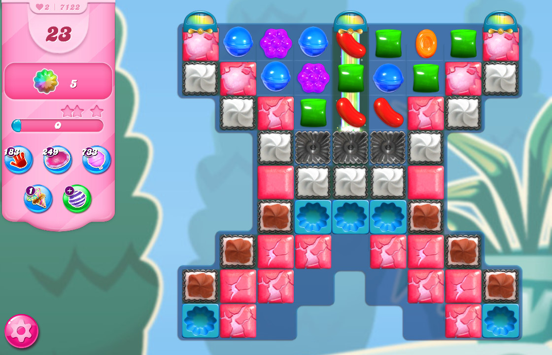 Candy Crush Saga level 7122