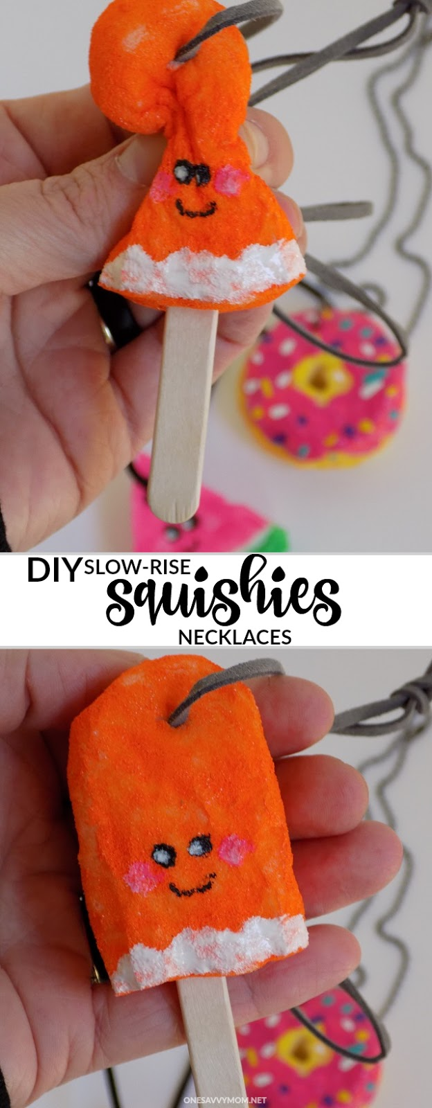 One Savvy Mom     NYC Area Mom Blog: DIY Squishies Necklaces + How To Make Your Own Squishy Toys!