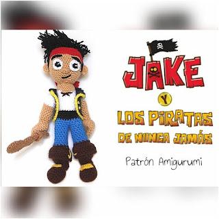patron amigurumi Jake y los piratas del Nunca Jamás sueños blanditos