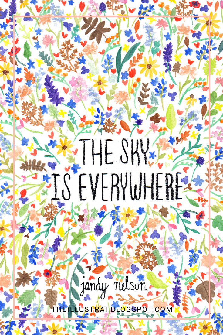 My watercolor cover illustration for the book The Sky is Everywhere by Jandy Nelson