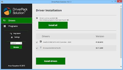 تحميل برنامج DriverPack Solution  لتعريفات 2017 الويندوز مجاني