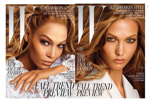 Joan Smalls and Karlie Kloss W Magazine