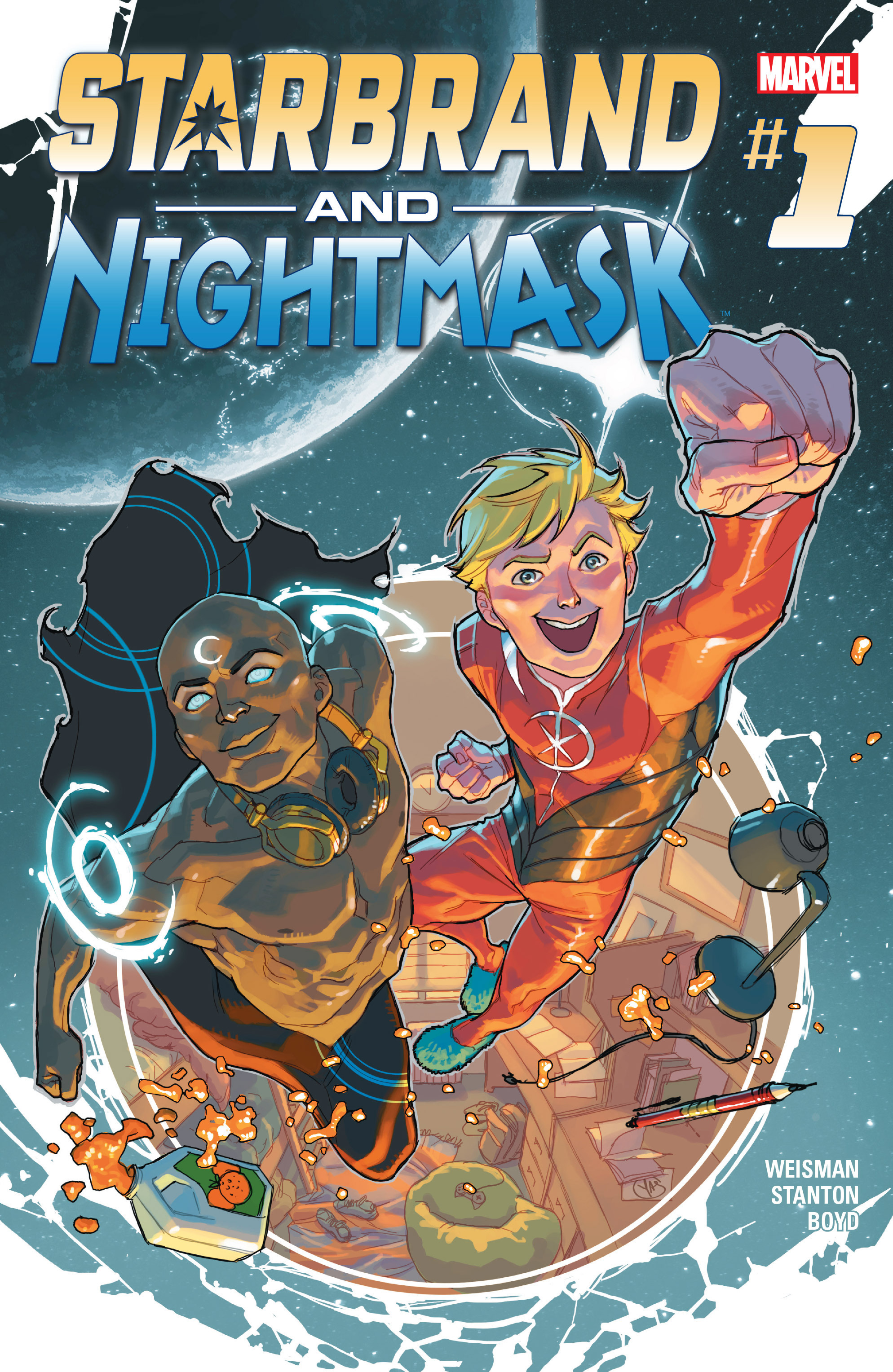 Read online Starbrand & Nightmask comic -  Issue #1 - 1