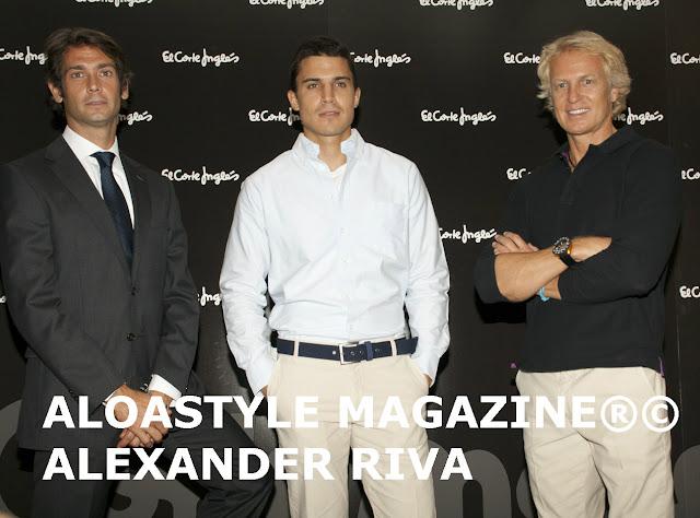 Alex González, Sebastián Palomo Danko y Álvaro Bultó presentan los nuevos uniformes masculinos de El Corte Inglés.