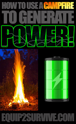 How to generate electricity with a solar panel and your campfire!
