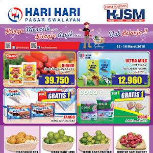 Katalog Promo Hari Hari Swalayan Weekend 15 - 18 Maret 2018