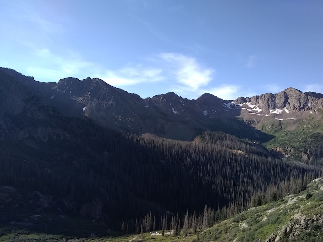 Columbine Pass and the rest of the cirque