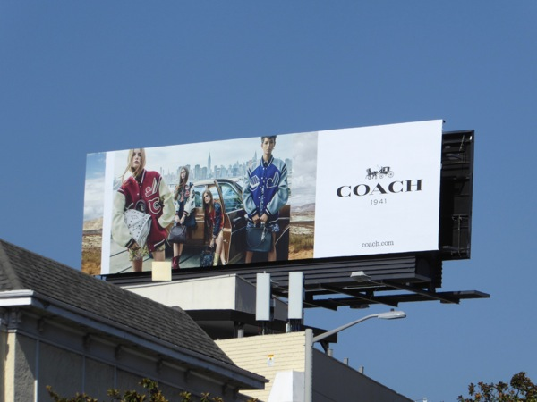 Coach jackets Fall 2016 billboard