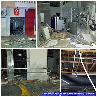 Resultado de imagem para bandidos explodem caixa eletronico em mairi