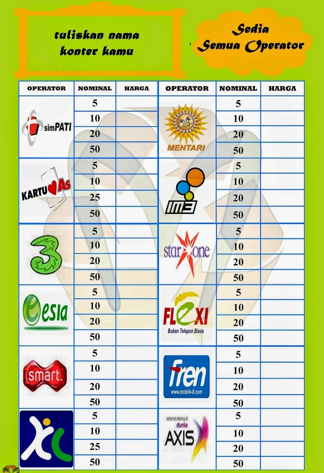 Daftar Harga Jual Pulsa Elektrik Ke Konsumen Master Dealer Murah