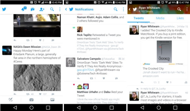Twitter is Testing New Material Version Design for Their Android App
