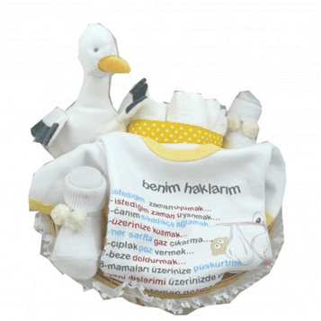 yeni doğan bebeğe hediye sepeti