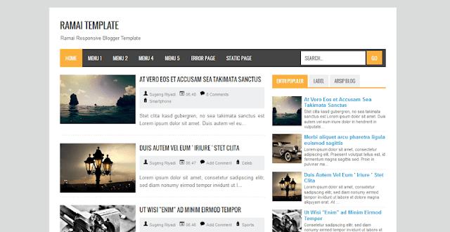 3 Template Blogger Keren Buatan Mas Sugeng