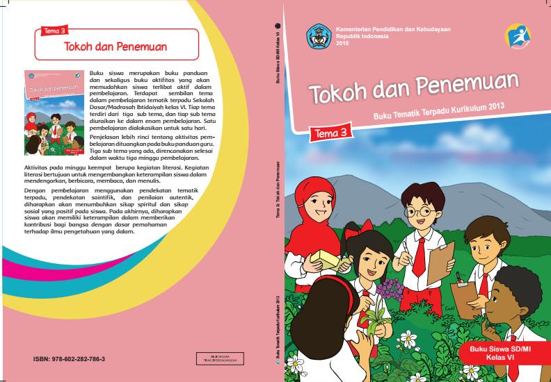 Download Buku Tematik Kurikulum 2013 SD/MI Kelas 6 Tema 3 Tokoh dan Penemuan Edisi Revisi Format PDF