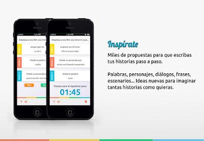 Retos de escritura creativa, una app para disparar la creatividad. Ver. Oír. Contar.