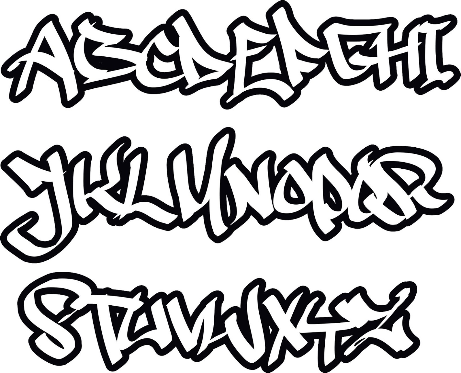 Das Beste Graffiti-Buchstaben ABC | Graffiti Schrift ...