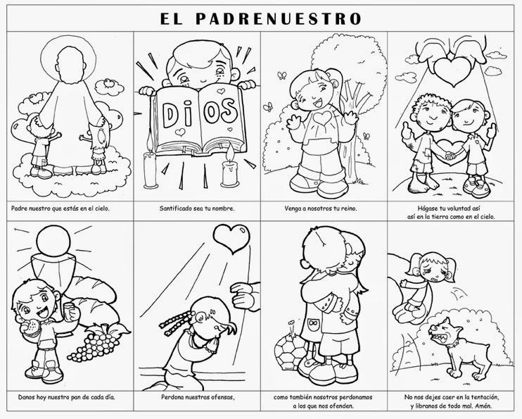 Colección de Gifs ®: ORACIÓN DEL PADRE NUESTRO PARA COLOREAR