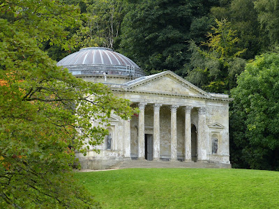The newly restored Pantheon at Stourhead