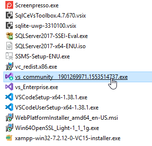 Visual Studio Installer - Programme d'amorçage