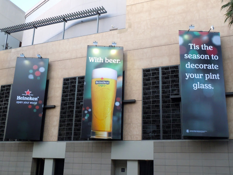 Heineken decorate with beer billboard