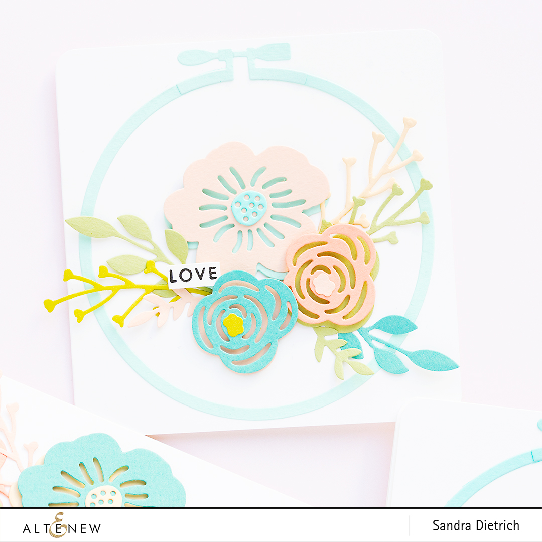 Altenew | Spring Cardmaking | Layered Floral Elements Die & Embroidery Hoop Die