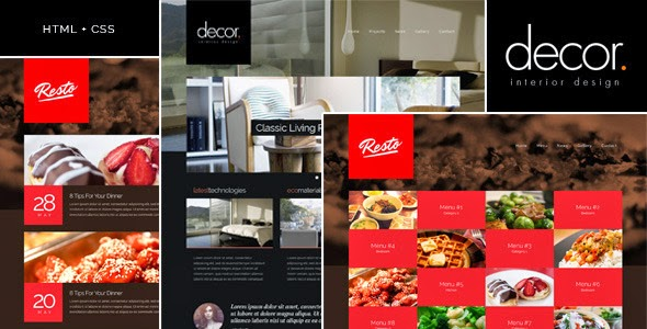 free Responsive Interior Design Template