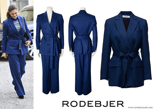 Crown Princess Victoria wore RODEJBER Suit (Zoe Blazer and Darcel Trousers)