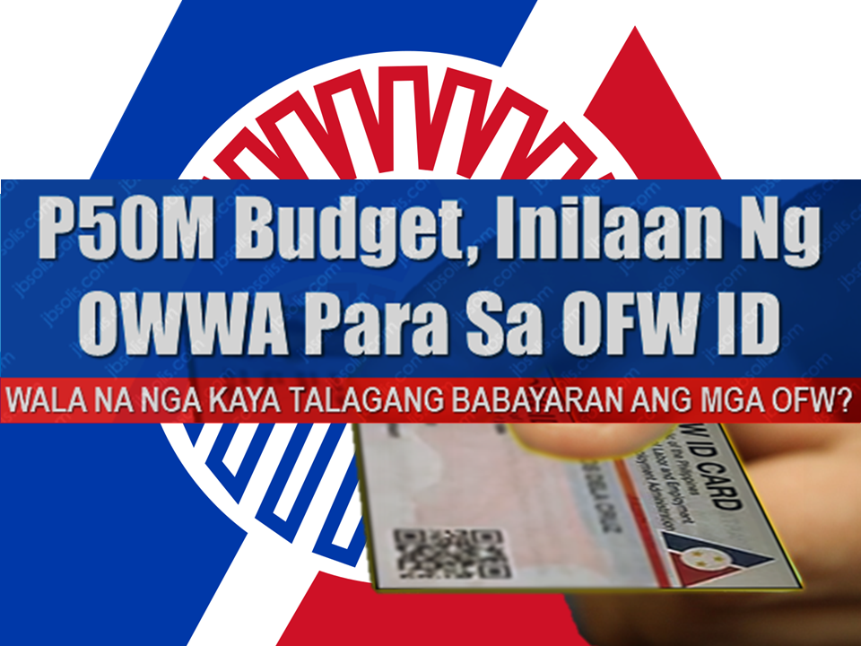 "big budget chunk amounting to P50 million has been allocated by the Overseas Workers Welfare Administration (OWWA)  for the printing of the OFW ID card.  In an interview, Silvestre Bello III, Labor and Employment Secretary and chairman of the OWWA Board of Trustees, disclosed they made the decision through the issuance of a board resolution last week after considering other sources of funding for the project. Sponsored Links  Bello noted there were some companies, which volunteered to pay for the printing of the ID.  ""But we decided for OWWA to shoulder the printing…we are wary that some (companies) might pay for it (ID) but might ask something in return,"" Bello said.  Aside from private companies, DOLE earlier said they are also looking at private recruiters and foreign employers to pay for the OFW ID.  DOLE later scrapped the proposal due to opposition from the recruitment industry.  Bello stressed the OFW ID will remain free for its intended beneficiaries except if they would want it delivered to their homes.  ""If they would want it delivered, they would have to pay for the delivery cost. Otherwise they could claim in OWWA,"" Bello said.  DOLE earlier said it is targeting to start the printing and distribution of the OFW ID this week in time for the return of OFWs for the Christmas holidays.  However, DOLE was unable to meet its tentative deadline for the release of the OFW ID, which was supposed to be on Wednesday, due to the delay in the release of its guidelines.  Labor undersecretary Bernard Olalia earlier said they are still waiting for the Department of Foreign Affairs (DFA) to sign the necessary memorandum of agreement (MOA) before they could issue the guidelines.  The guidelines will contain the issuance and application process for the OFW ID.  The OFW ID will allow OFWs to use the integrated DOLE System or iDOLE systems to help ease their deployment processing. Source: Manila Bulletin   Advertisement Read More:        ©2017 THOUGHTSKOTO"