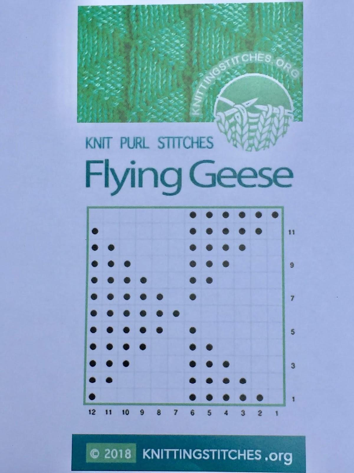 Knitting Stitches 2018 - Flying Geese stitch pattern