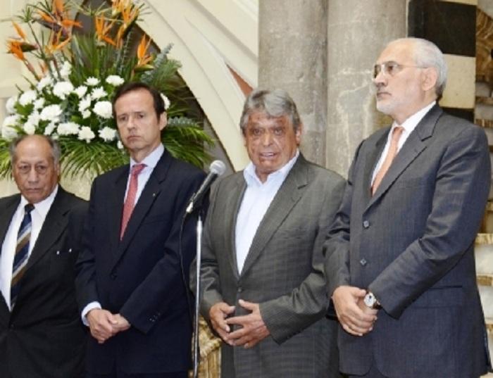 Vildoso, Quiroga, Paz Zamora y Mesa son parte del Consejo de Reivindicación Marítima / ABI
