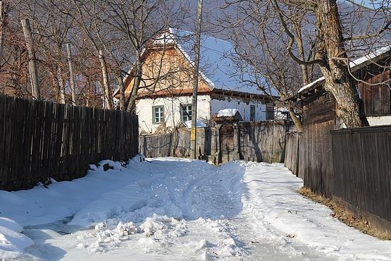 Alsósófalva utcái télen
