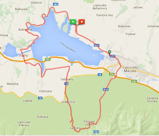 Liptovska Mara bicycle circuit - MAP