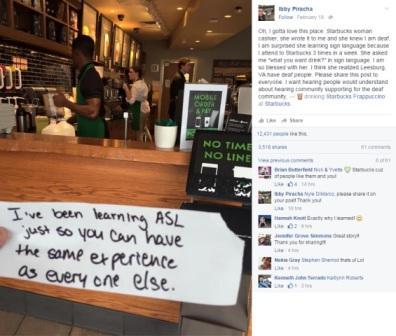 Postingan Ibby di facebook miliknya tentang surat dari sang barista
