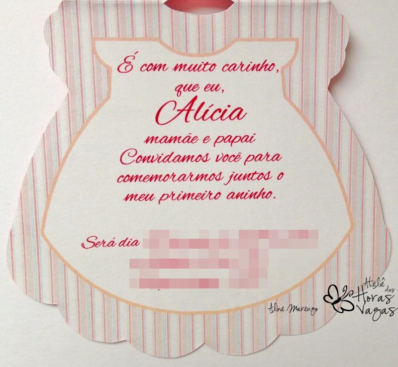 convite artesanal aniversário infantil chá de bebê roupa roupinha vestido vestidinho de boneca floral provençal menina