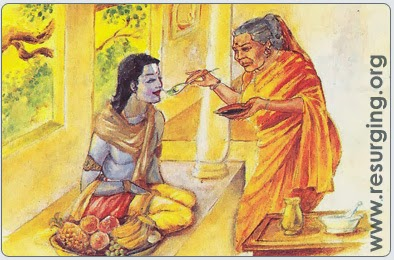 Lord Shrinivasa Meets his Mother Bakula Devi