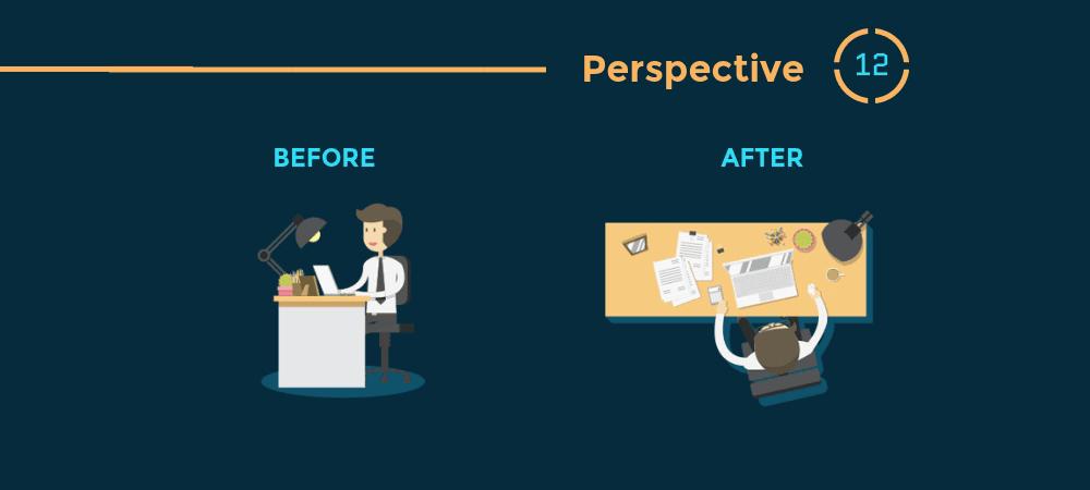 12 Prinsip Hierarki Visual Desain Grafis - Perspective