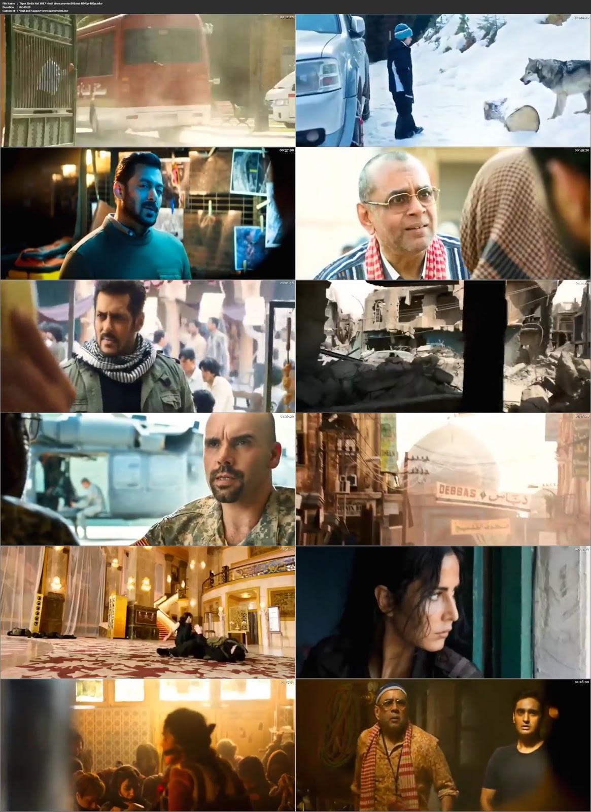 Tiger Zinda Hai 2017 Bollywood 300MB HDRip 480p at movies500.xyz